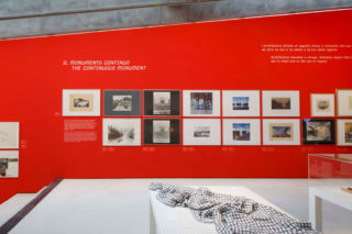 MAXXI-Superstudio50-09-Exhibition-Section-title-Quote-Elevation-Monumento-continuo