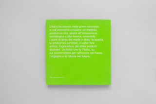 GreenItaly.-IQdS-18-Annual-report-Pantone-green-Back-cover-Typography