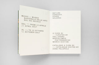 MAXXI-Nature-Forever.-Piero-Gilardi-Book-Catalogue-04-Exhibition-data-Typography