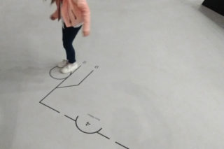 MAXXI-The-Place-to-Be-21-Exhibition-Collection-Kids-museum-Floor-signage-in-use