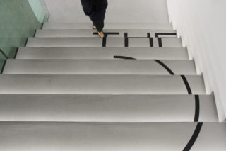 MAXXI-The-Place-to-Be-24-Exhibition-Collection-Stairs-Floor-signage-Wayfinding-Identity