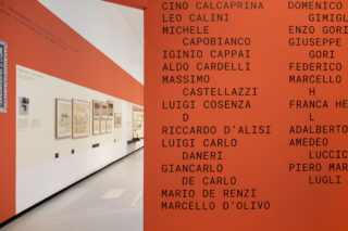 03-MAXXI-Gli-architetti-di-Zevi-Exhibition-Entrance-Architects-List